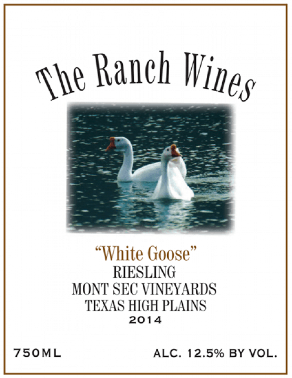 North Texas Wine Riesling White Goose