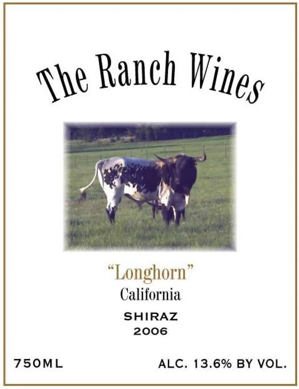 California Shiraz Longhorn 2006