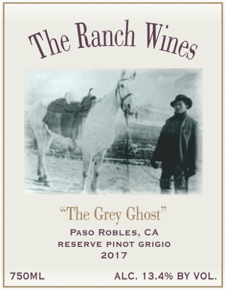 2017 Grey Ghost Pinot Grigio