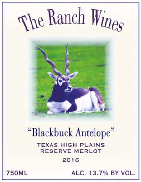2016 Blackbuck Antelope Merlot