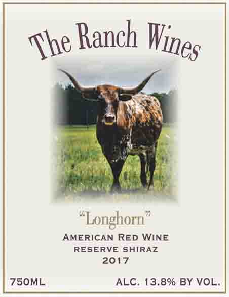 2017 Longhorn Shiraz American Red Wine