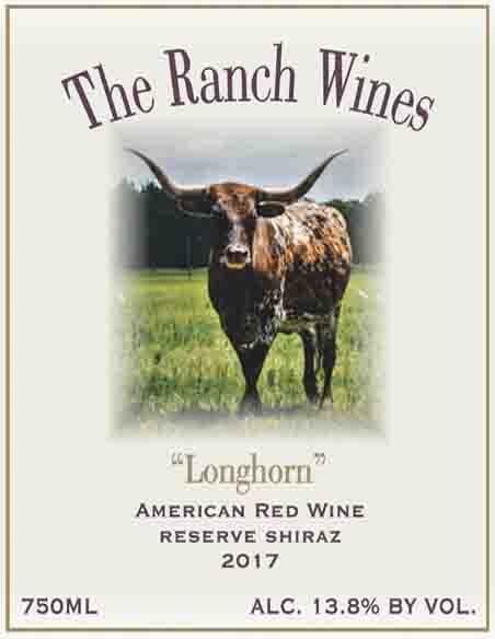 2017 Longhorn Shiraz American Red Wine