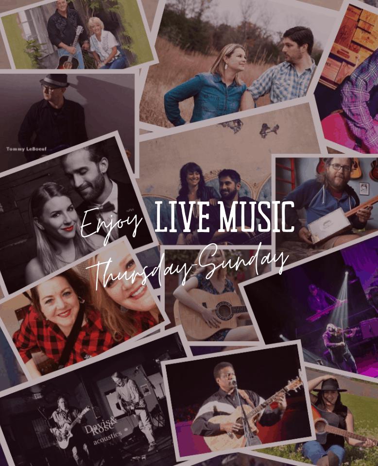 Enjoy Live Music Thursday - Sunday